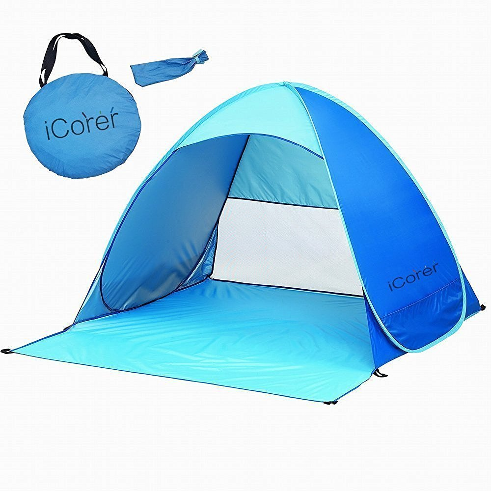 new concept 9324a 7d4ac Automatic Pop Up Beach Tent Sun Shelter Cabana 2-3 Person UV Protection  Beach Shade for Outdoor Activities