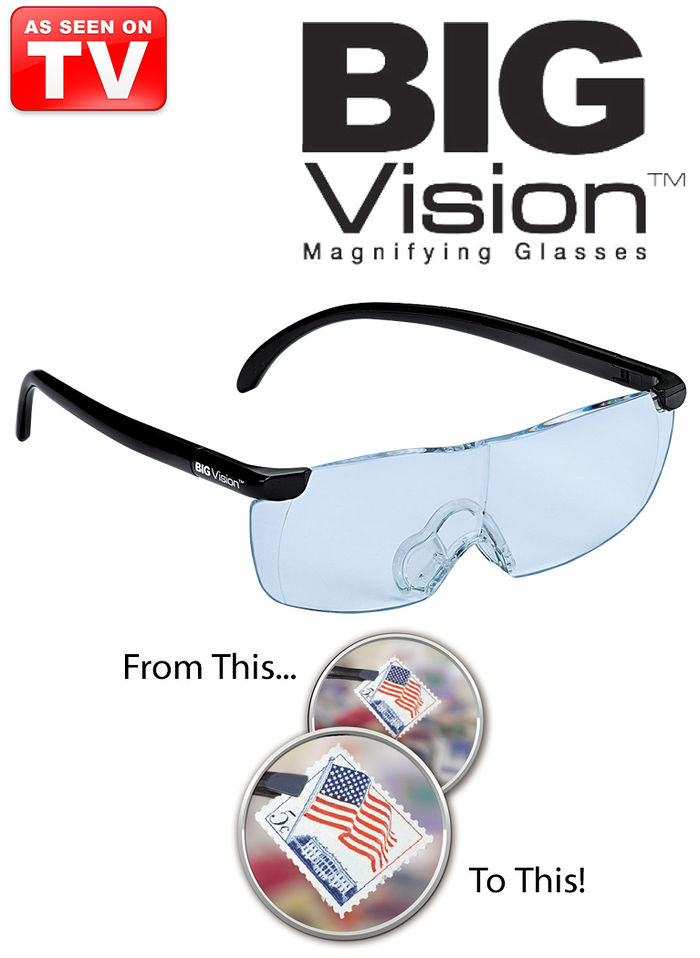 63a0573f3f6 Big Vision Magnifying Eyewear Glasses See 160% - Be CODD
