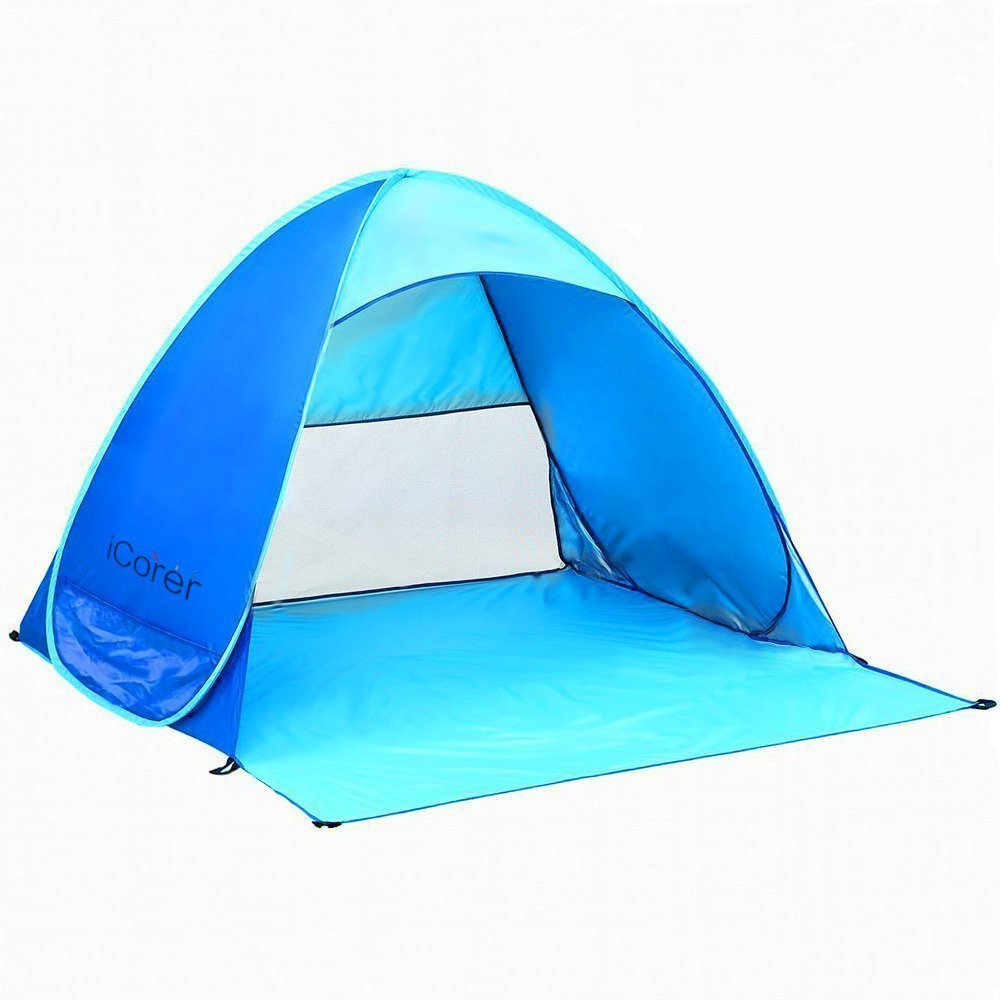 Automatic Pop Up Beach Tent Sun Shelter Cabana 2 3 Person Uv Protection Shade For Outdoor Activities